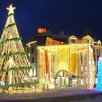 Imágenes con árboles de Navidad en diferentes ciudades del mundo