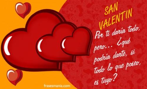 frase san valentin