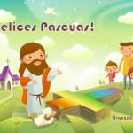 Tarjetas infantiles de Felices Pascuas para descargar e imprimir