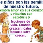 Imágenes de niños y carteles con frases sobre los niños para pensar y descargar en el Día del niño