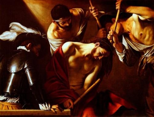las_10_mejores_pinturas_de_jesus_de_la_historiaLa Coronación con Espinas fue hecha por el maestro italiano Michelangelo Merisi da Caravaggio en 1602.