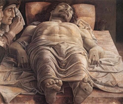 las_10_mejores_pinturas_de_jesus_de_la_historiaLa Lamentación de Cristo fue hecha por Andrea Mantegna en 1480