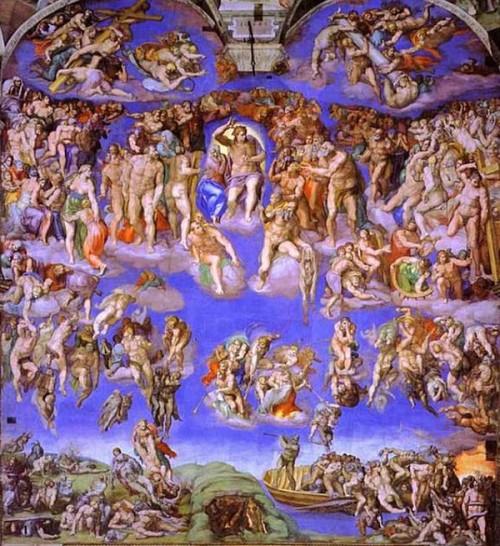 """las_10_mejores_pinturas_para la capilla sixtina_Miguel Angel pinto este fresco súper intenso de """"El Juicio Final"""