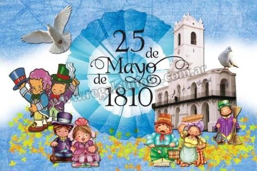 Im genes infantiles del 25 de mayo de 1810 para descargar for Decoracion 25 de mayo nivel inicial