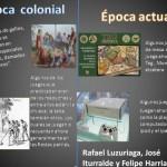 Comparando épocas: Colonial y Actual para compartir- Dibujos para imprimir y colorear del 25 de Mayo de 1810