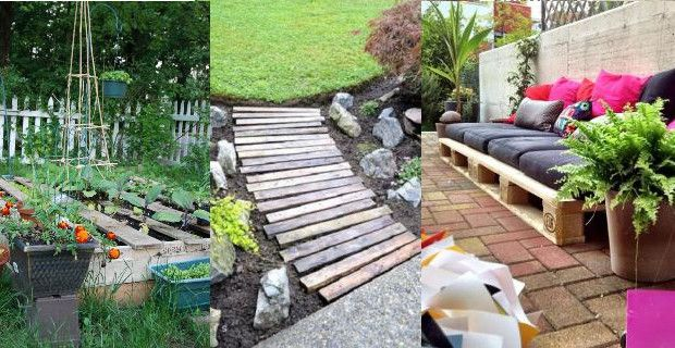 Ideas para decorar jardines con im genes de palets for Decoracion palets jardin