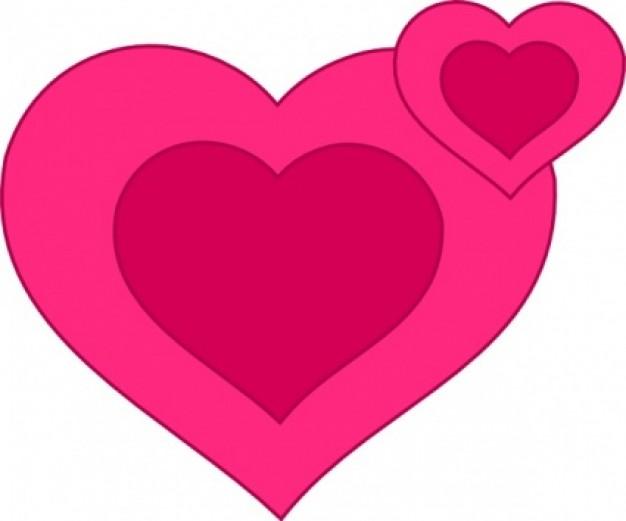 corazones-rosa-junto-clipart_430138