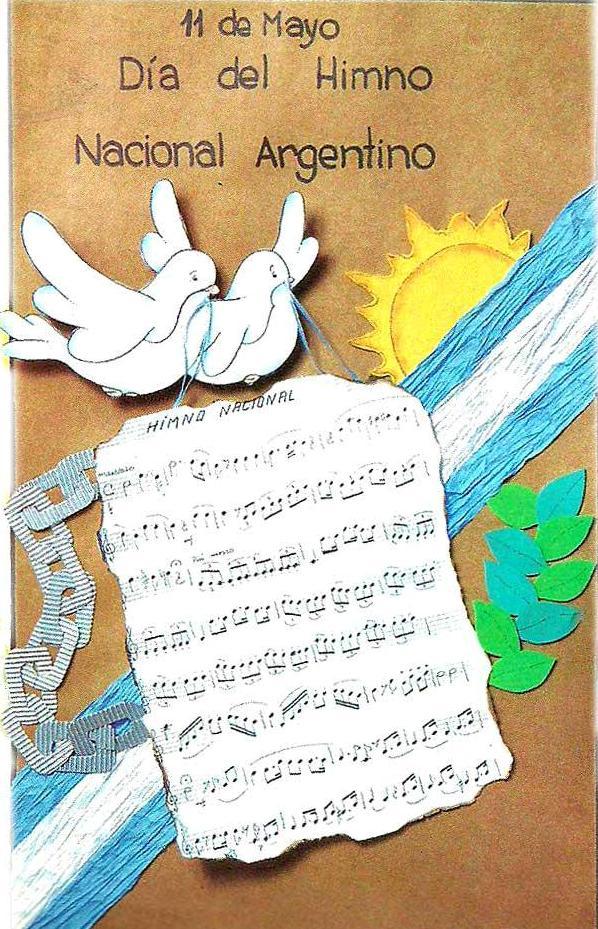 Imgenes con fragmentos del Himno para el Da del Himno