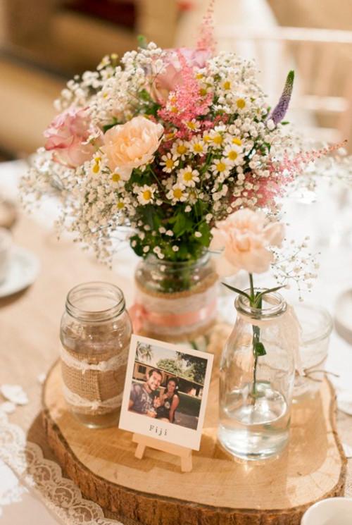 30 im genes con centros de mesa para boda ideas originales for Fotos de mesas de centro