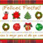Imágenes hermosas con frases tiernas para decir Felices Fiestas