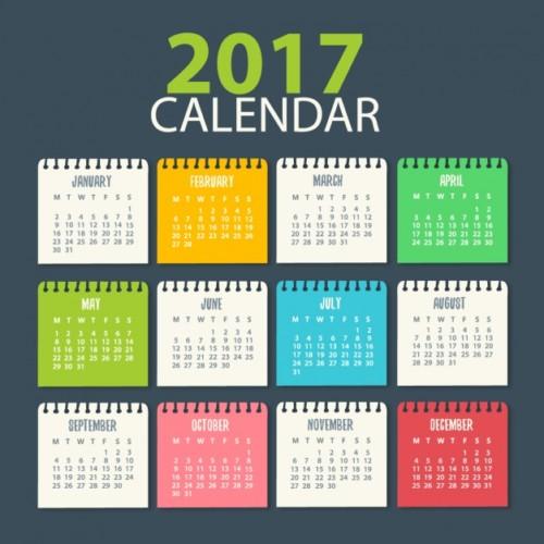 calendar templates for 2017