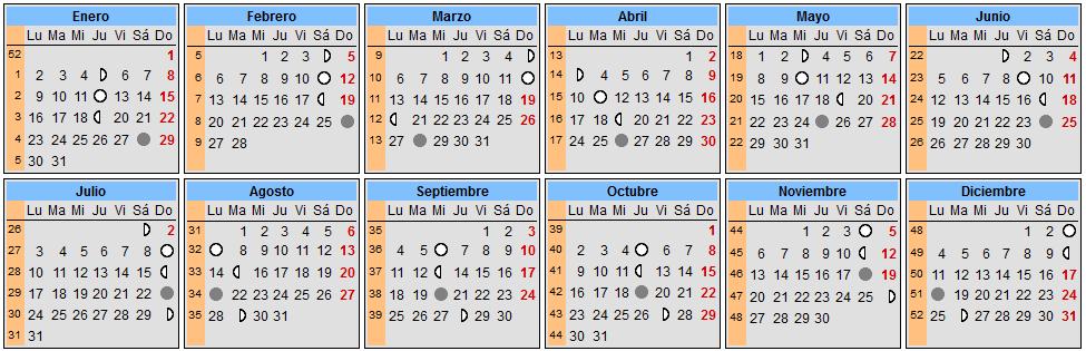 Calendarios espectaculares 2017 para imprimir hoy im genes for Calendario lunar hoy