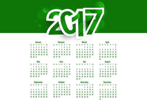 calendarios-2017-vectores-gratis