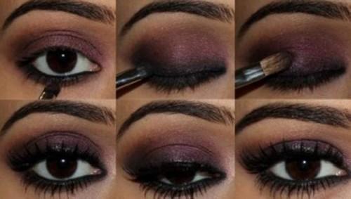 clsico maquillaje en tonos oscuros ideal para color de ojos marrones