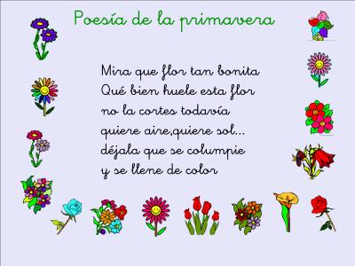 Resultado de imagen de bienvenida primavera poesia para niños