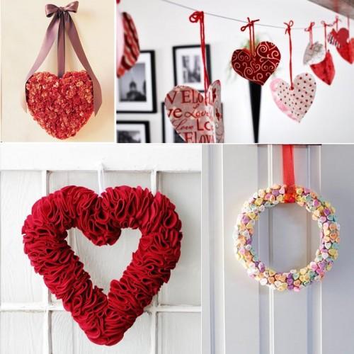 Manualidades con corazones para compartir el d a de los for Manualidades navidenas con cartulina