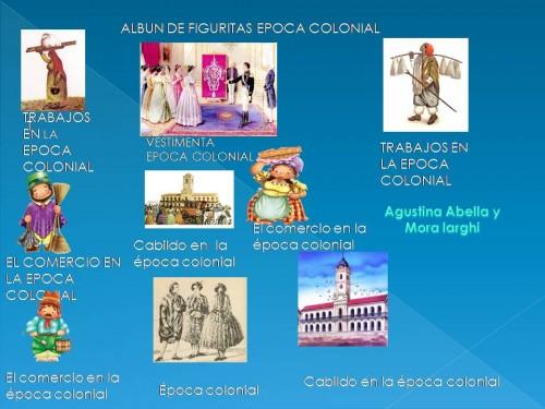 album de figuritas de la epoca colonial