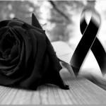 Imágenes de rosas negras y lazos negros de luto para descargar gratis