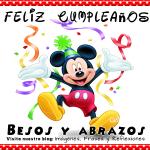 Tarjetas de Felíz Cumpleaños con Mickey para utilizar
