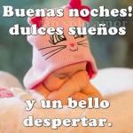 Imágenes de bebés con mensajes tiernos de Buenas Noches para WhatsApp gratis