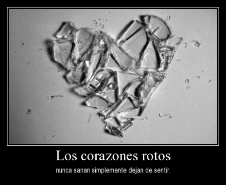 imagen de corazones con frase de desamor (2)