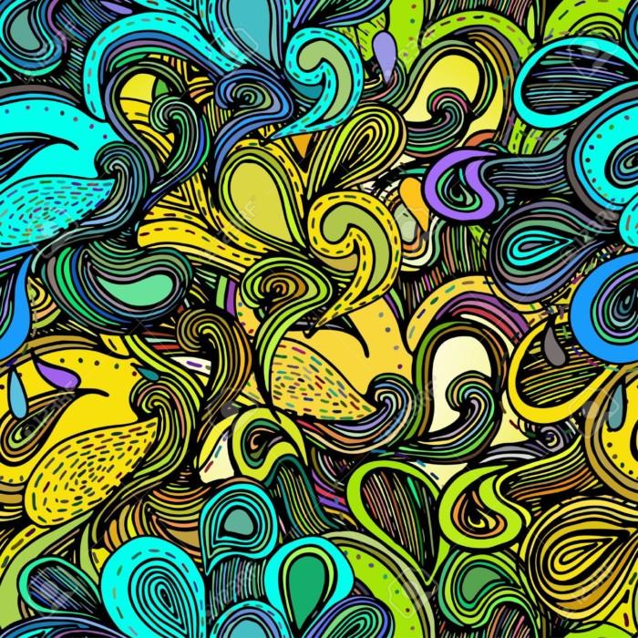 abstracto33259559-Ilustraciones-con-las-olas-del-mar-abstractas-Dise-o-abstracto-colorido-dibujado-a-mano-las-olas-de--Foto-de-archivo
