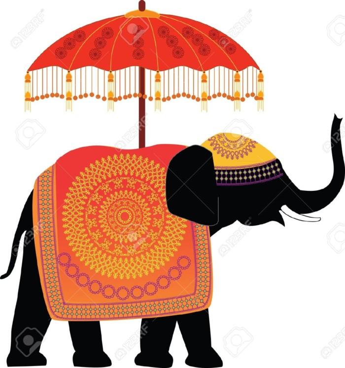 ele12164649-Elefante-Indio-Decorado-con-paraguas-Foto-de-archivo