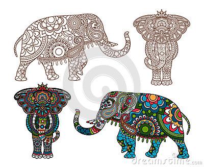 elefante-indio-del-vector-52725847