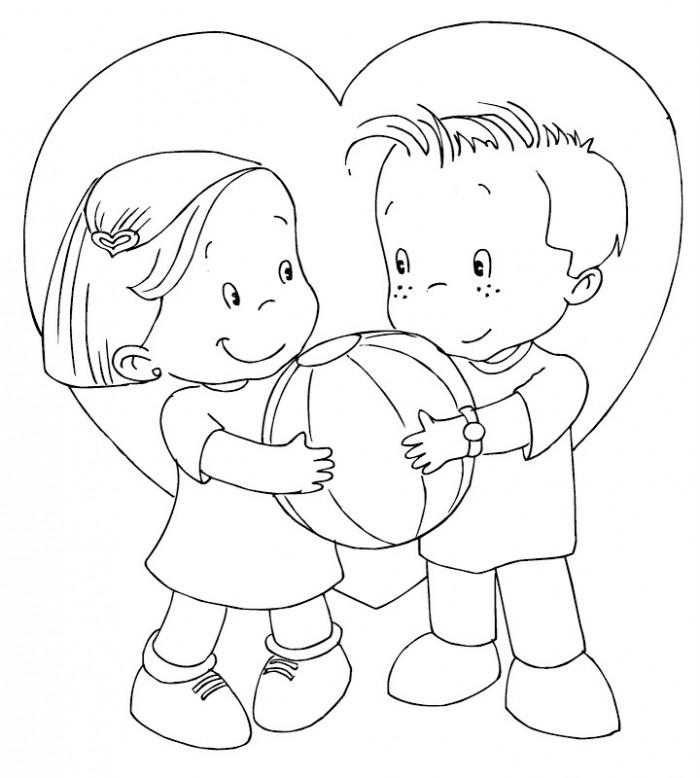 Tarjetas Para Colorear Del Día De San Valentin El 14 De Febrero