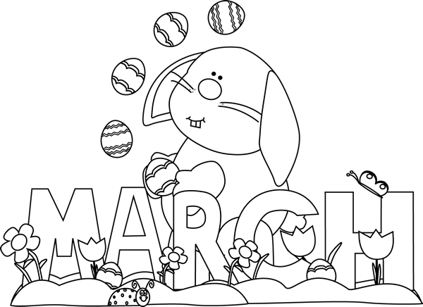 month-of-march-easter-bunny-black-white