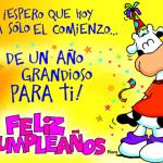 Frases con dedicatorias y saludos de Feliz cumpleaños en imágenes