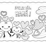 Imágenes lindas y con mensajes para colorear del Día de la Madre