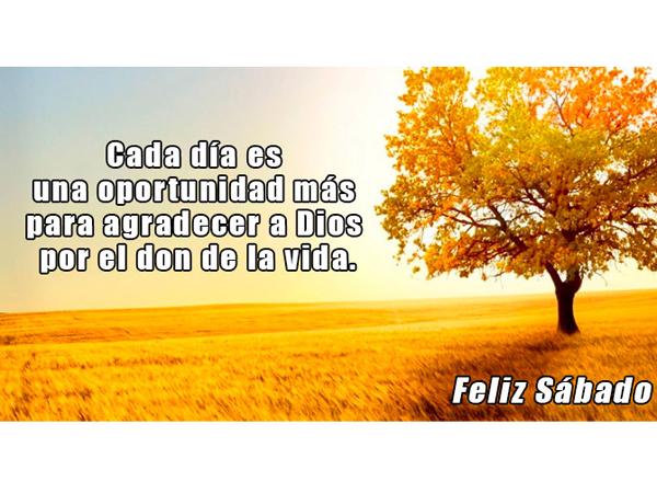 Cada día es una oportunidad para agradecer a Dios...