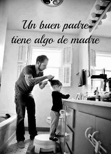 Padre-peinando