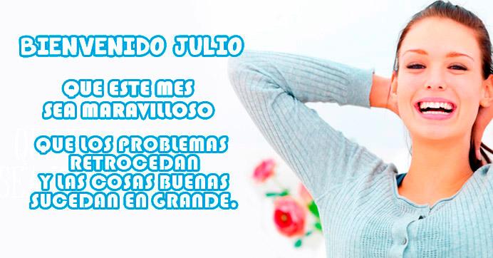 Imagen de mujer con frase para mes de Julio http://fechaespecial.com