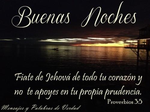 Buenas noches proverbios 3,5