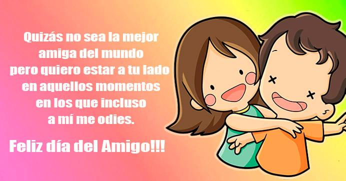 Imagen de amigos felices con frase http://fechaespecial.com/