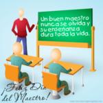 Imágenes lindas con bonitos mensajes para saludar a los maestros en su día