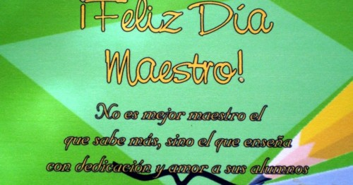 Feliz Dia del Maestro con Frases6