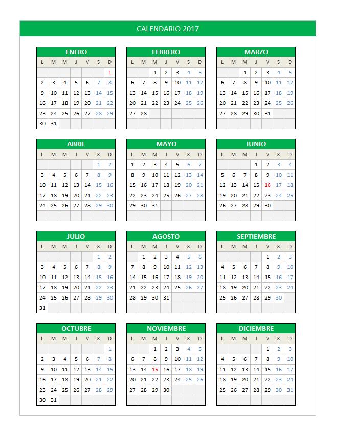 calendario-2017-en-excel