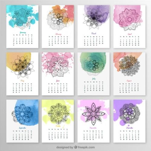 calendario-anual-con-mandalas-y-salpicaduras-de-acuarela_23-2147512128