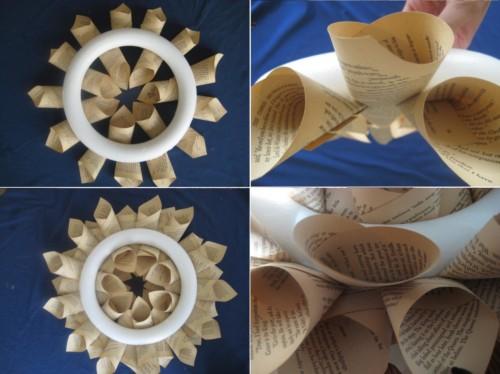 corona-navidena-de-navidad-con-papel-libros-revistas-recicladas-reciclados-reciclar-manualidades-reciclaje-navideno-facil-barato-ahorro-hagalo-ud-mismo-tutoriales5