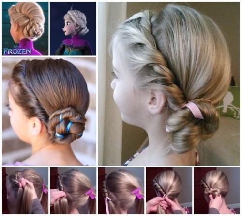 Peinados para nina con el cabello recogido