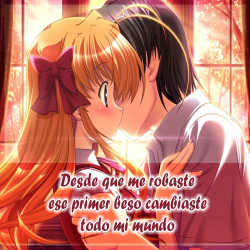 Imágenes Anime Con Hermosas Frases De Amor Y Desamor